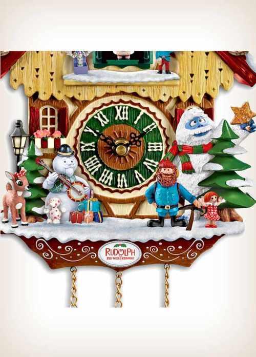 Red Nosed Reindeer Rudolph Cuckoo Clock