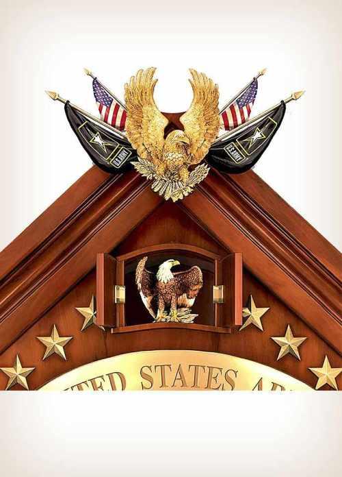 United States Military Cuckoo Clock Eagle