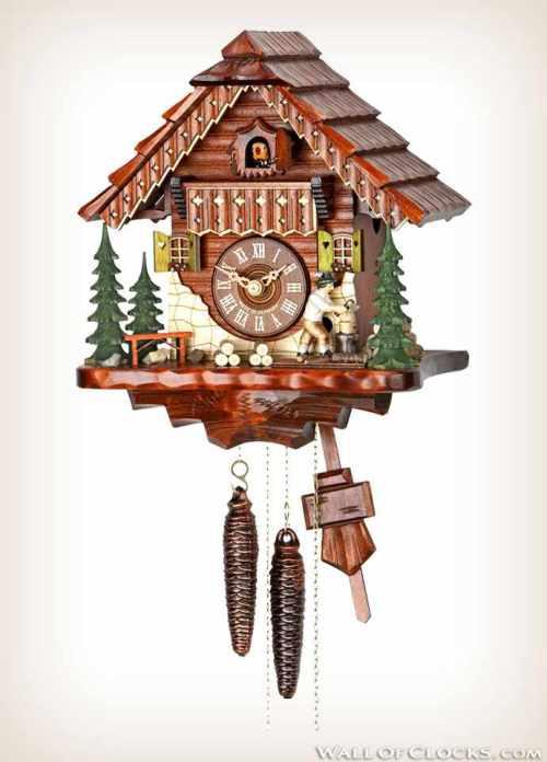 Hekas KA 1679 Moving Wood Chopper Cuckoo Clock