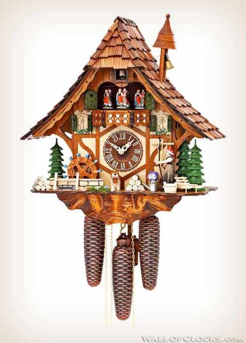 Hekas 3727-8ex girl and dancers cuckoo clock