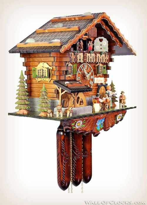 Bavarian Guesthouse 488-11 Adolf Herr Cuckoo Clock-links