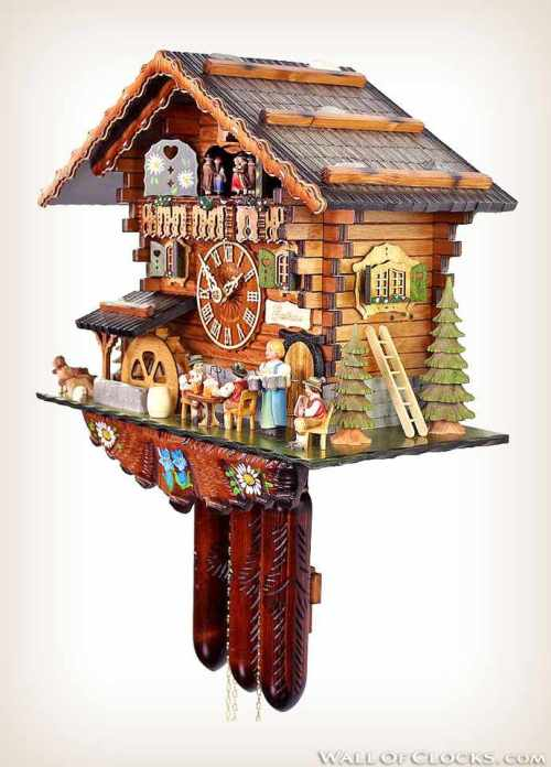 Bavarian Guesthouse 488-11 Adolf Herr Cuckoo Clock-rechts