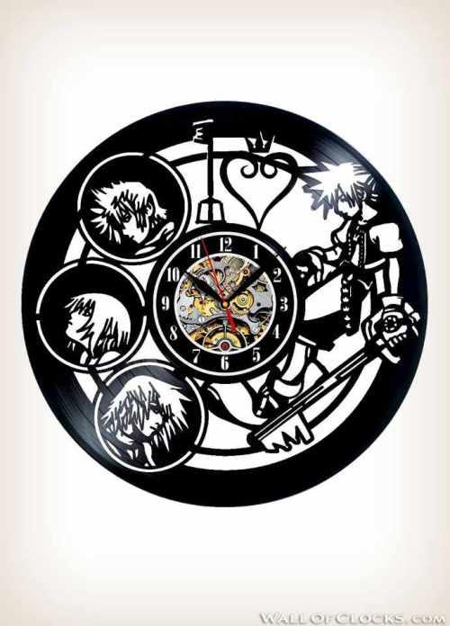 Kingdom Hearts Anime Vinyl Clock