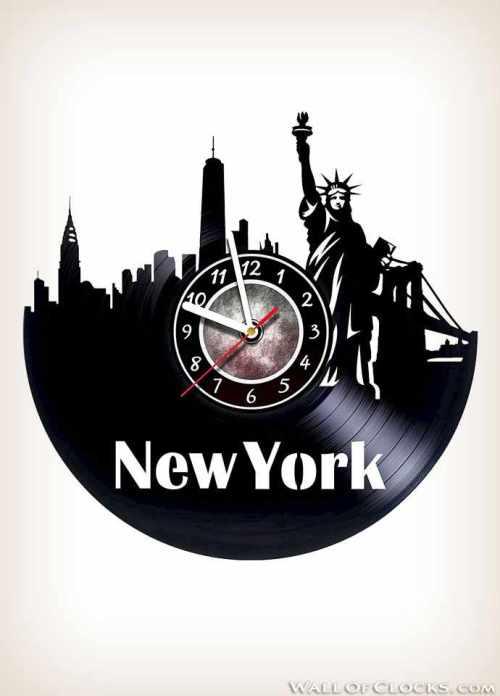 New York City Vinyl Clock