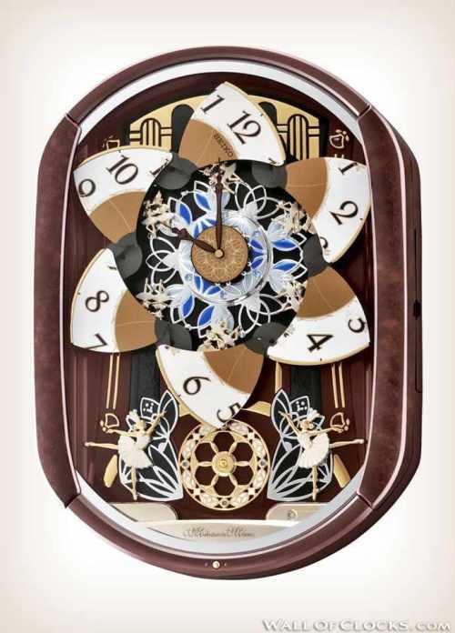 Seiko QXM297B Ballerina Melodies in Motion Clock-3