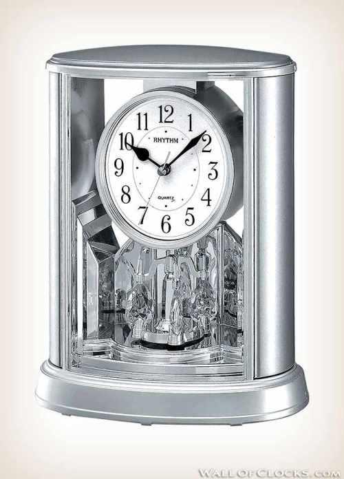 Silver Teardrop Rhythm Clock RYM054