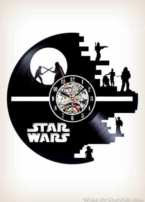 Star Wars Death Star Vinyl Clock