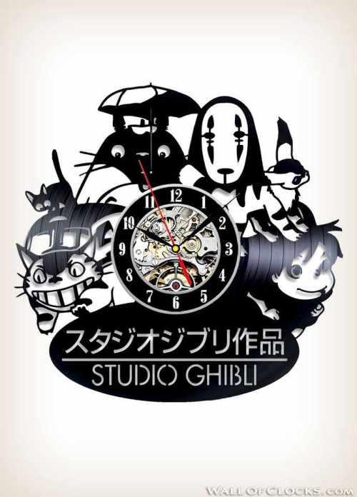 Studio Ghibli Anime Vinyl Clock
