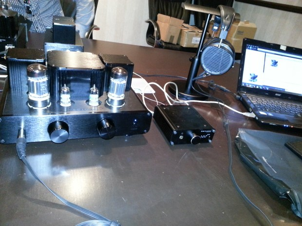 Woo Audio's WA2 amp, at left