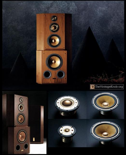 Yamaha's GF-1 active loudspeaker is a rare bird from the early 90's. It featured Beryllium mids and tweeters, four integrated amps per speaker, a weight of 175kg per side, and a price tag of 7,000,000¥. Photo credit: www.thevintageknob.org