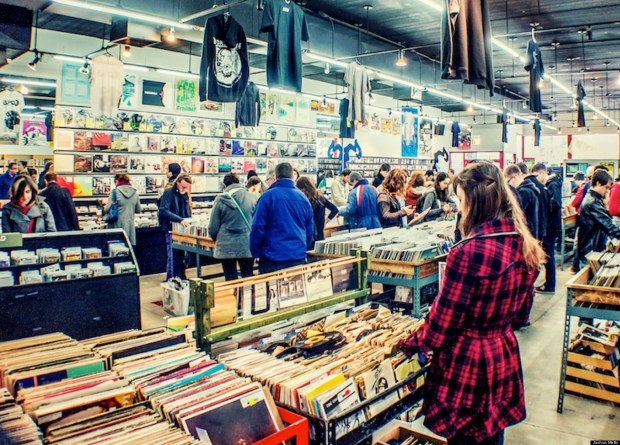 You meet the nicest people in an independent record store. Photo credit: Huffington Post.