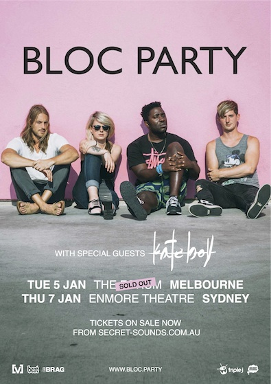 BLOC PARTY SUPPORT POSTER