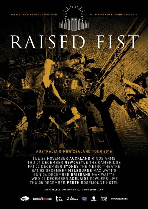 Raised Fist Tour Poster 2