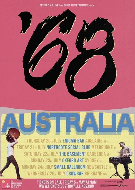 68 aus tour