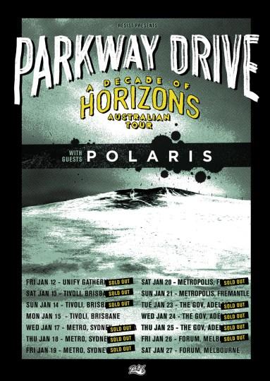 parkway drive horizons tour