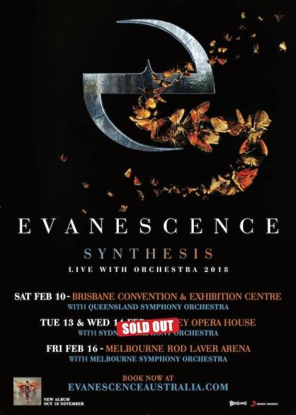 evanescence tour