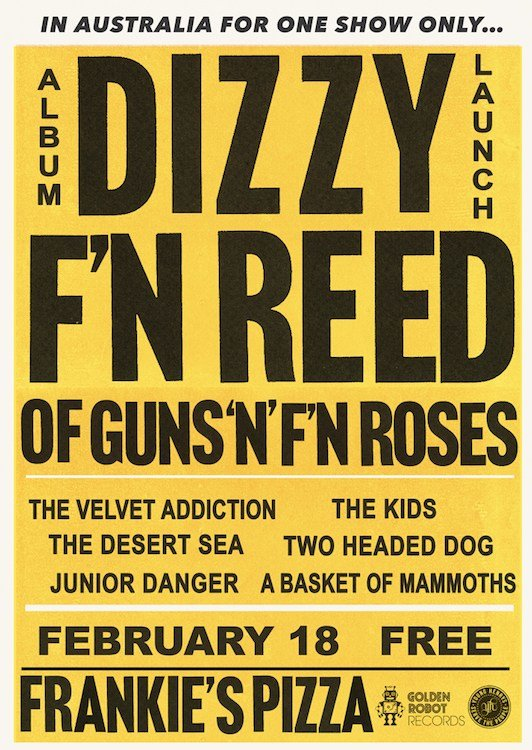 Dizzy Reed Album Launch Poster_Feb