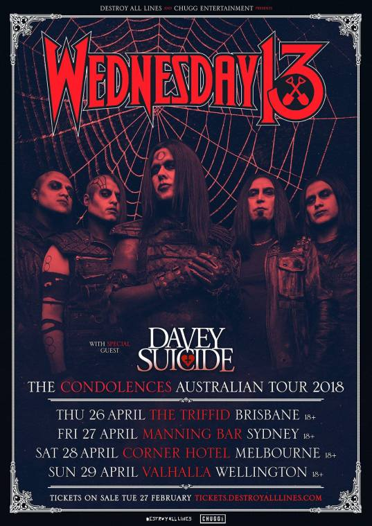 wednesday 13 tour 2018