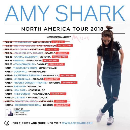 amy shark us tour
