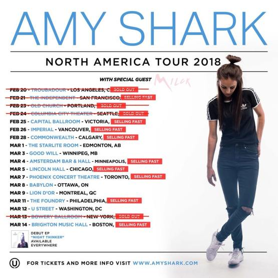 amy shark us tour