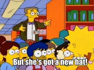 simpsons new hat