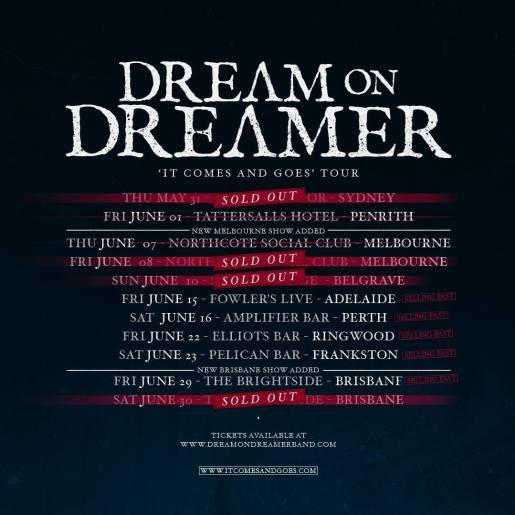 dream on dreamer tour