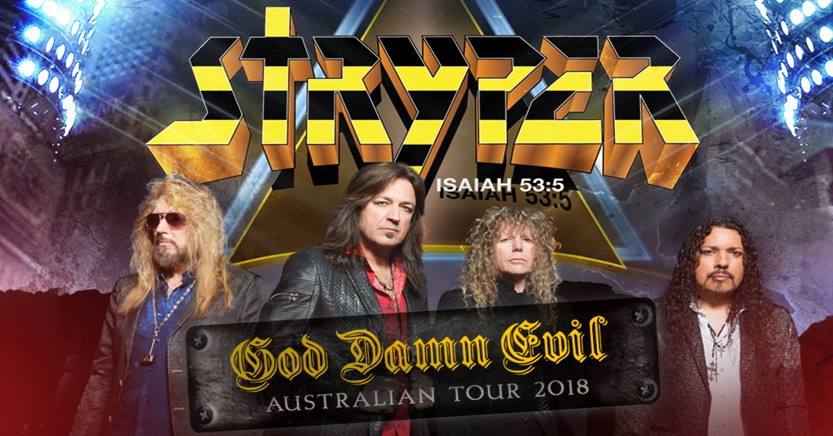 Stryper - Gig Review 18th August @ Max Watts, Sydney NSW
