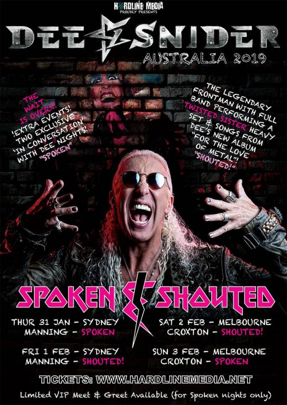 dee snider tour