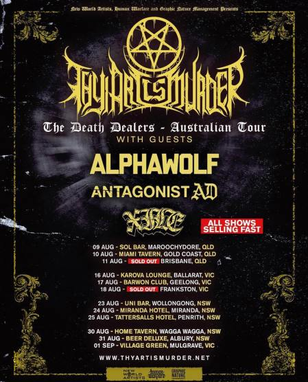 thy art is murder 18 tour