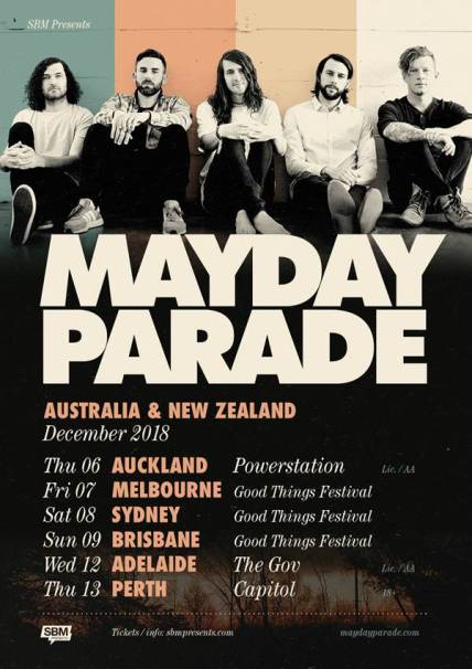 Mayday Parade Good Things Fest sideshows