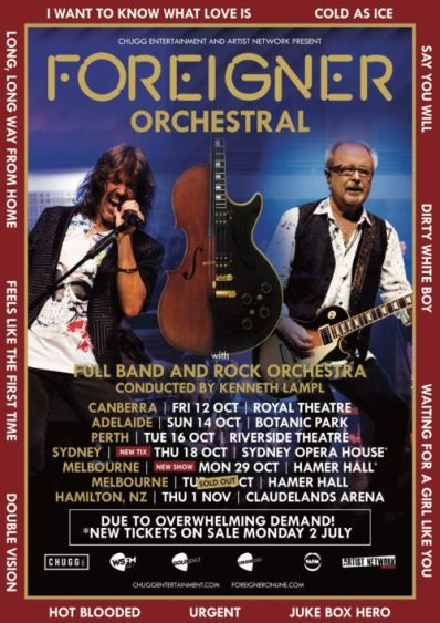 foreigner tour aus 2018