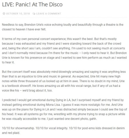 Nikki-Lee Pnic review