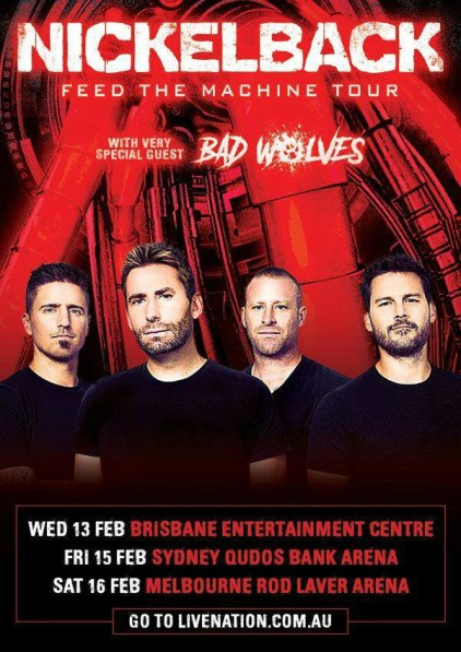 Nickelback tour 2019 feb