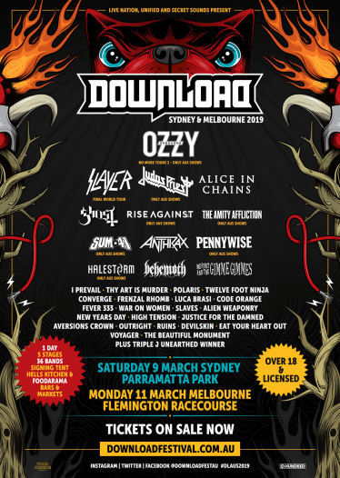 Download Festival Australia 2019 Lineup