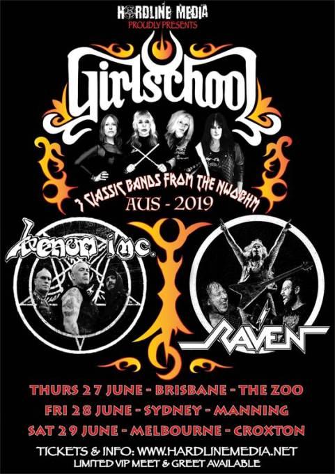 girlschool venom inc raven tour
