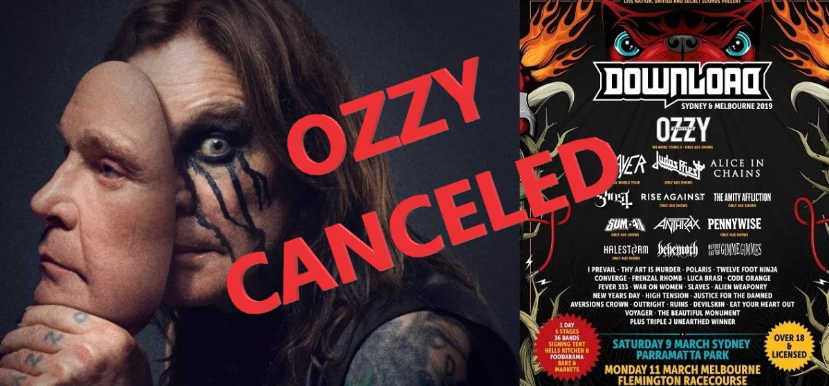 Its Official: Ozzy Osbourne cancels Download Festival Australia appearances on strict doctors orders