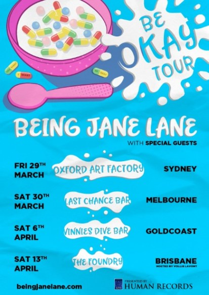 being jane lane - be okay tour