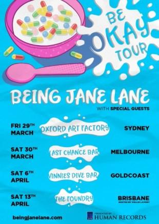 being jane lane - be okay tour