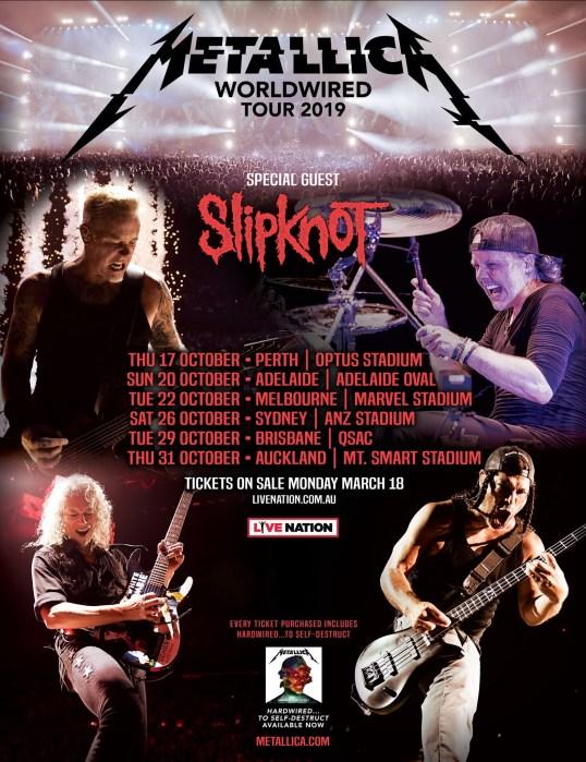 METALLICA SLIPKNOT TOUR 19