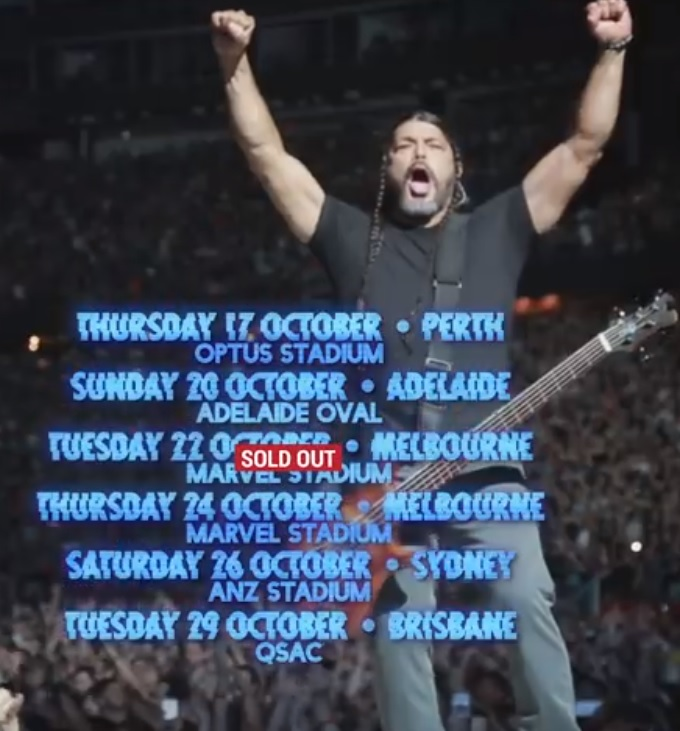 Metallica add second and final Melbourne show to Australian