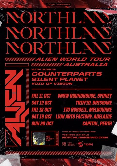 Northlane Alien Tour