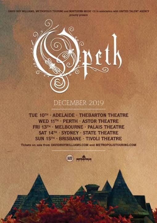 Opeth Australian Tour