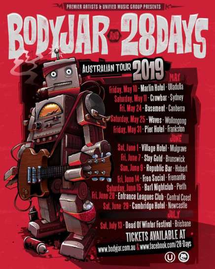 bodyjar 28 days tour