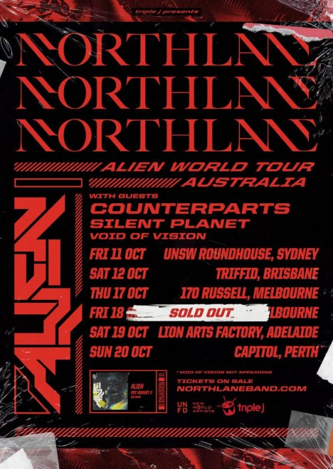 Northlane Alien Tour