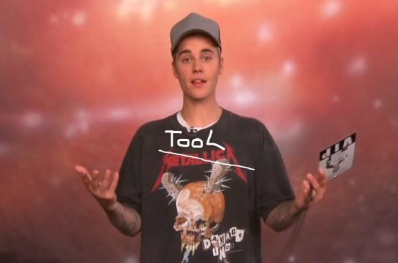 Justin Bieber. Photo The Ellen Show