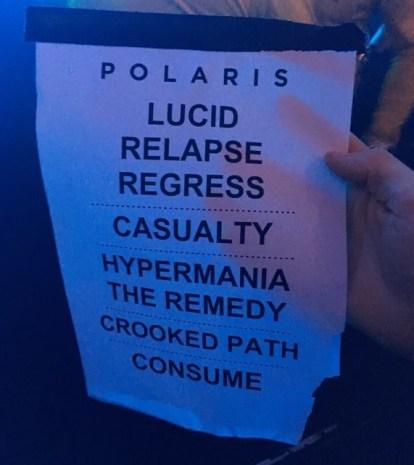 polaris set list
