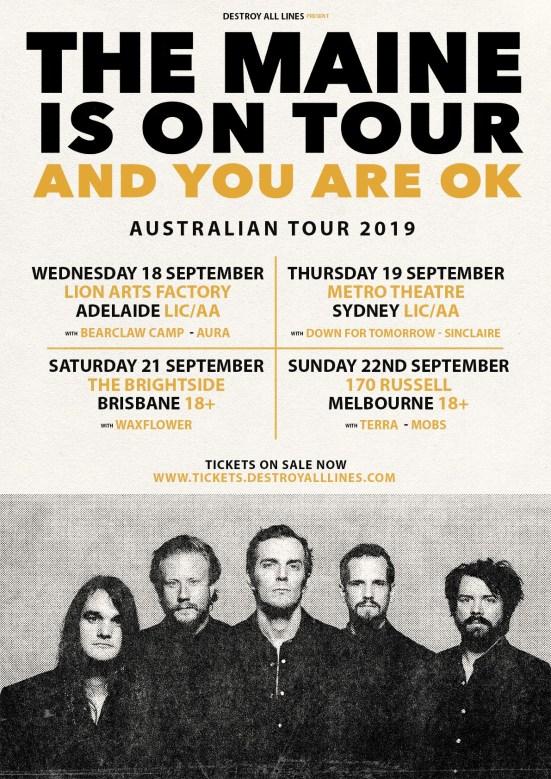the maine tour 2019