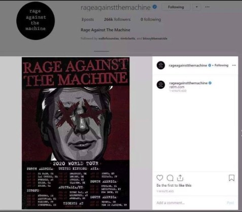 ratm insta post deleted