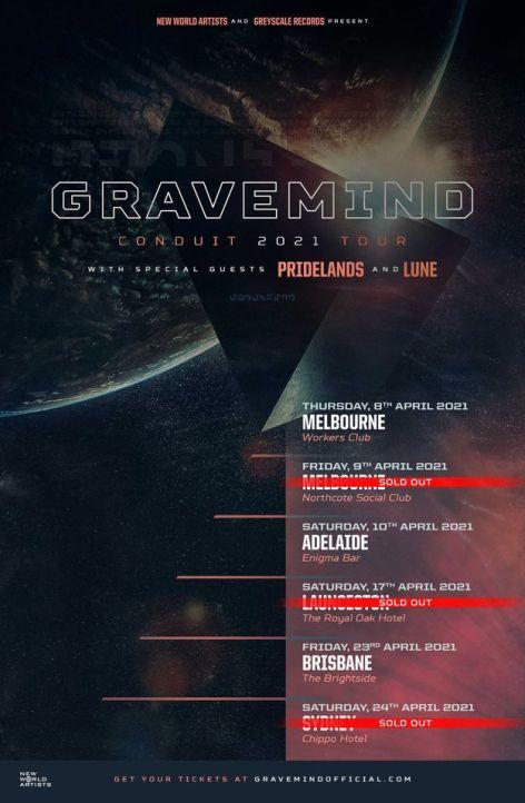 gravemind tour 2021