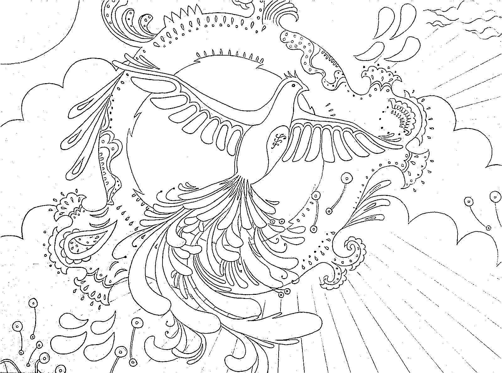 Vintage Phoenix Sketch Set And The Design Process Of The Abstract Phoenix Wall Of Wonders